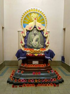 Yatishwaranandaji designed this special shrine. The bottom black granite stands for Tamas; the red for. Saints Of India, Jnana Yoga, White Lotus, Spiritual Path, Burning Candle, Two By Two, Meditation, Religion, Concept