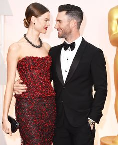 How's this for picture perfect? The gorgeous pair arrived to the Oscars red carpet donning the same designer: Armani.