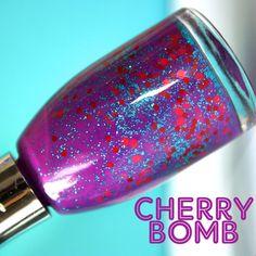 Nail Polish Cherry Bomb    Glitter Nail Polish / by CVarnish, £4.00