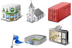 GIS/GPS/MAP Iconset (23 icons) | Icons-Land