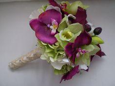 EXOTIC JEWEL Large Bridal Wedding Bouquet by Ardesign on Etsy, $115.00