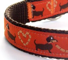 Super cute dachshund collar! Perfect little stocking stuffer from Day Dog Designs on Etsy