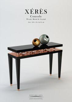 Xérès Jewellery Console - Wood And Crystal- Pont des Arts - Designer Monzer Hammoud - Paris