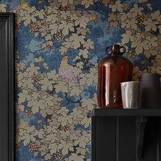 Behang Little Greene Vine  Bleu sfeer 1 Archive Trails Collectie Luxury By Nature 2