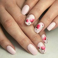 Nails floral 50 Beautiful Floral Nail Designs For Spring - Page 9 of 50 50 Beautiful Floral Nail Designs For Spring - Page 9 of 50 - Chic Hostess Flower Nail Designs, Flower Nail Art, Nail Designs Spring, Cool Nail Designs, Acrylic Nail Designs, Acrylic Nails, Cute Nails, Pretty Nails, My Nails