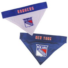 dfeafd09543 New York Rangers Dog / Cat Reversible Bandanas SM/MD & LG/XL