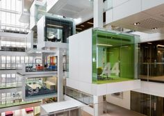 A Radical Large Scale Take On The Century Collaborative Workplace Containing Atrium With 26 Meeting Pods