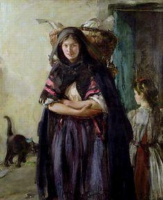 Alexander Ignatius Roche (Escocia, A Newhaven Fishwife Newhaven, Alice, Art Uk, Women In History, Female Art, Find Art, Oil On Canvas, Giclee Print, Cool Art