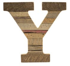 Cypress Barnwood Letter Y  These Paul Michael Company Exclusive pieces are designed and made by hand in our Dermott, AR woodshop.