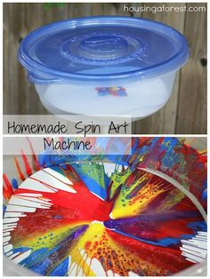 Homemade Spin Art