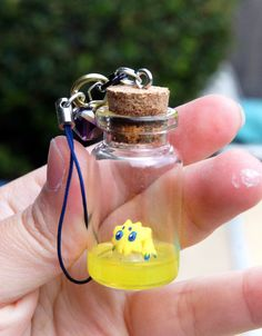 online store d10f5 0d829 OOAK Joltik in a Bottle Charm Pokemon Bottle Charm Cute Pokemon Charm  (23.99 USD)