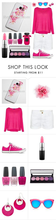 Rose Pink Outfit by retailite on Polyvore featuring Splendid, Current/Elliott, Converse, Mixit, Le Specs, MAC Cosmetics and OPI