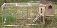 small chicken coop for bantams | http://creativecoops.com/wp-content/uploads/2012/03/K201-Med.-with-pen ...