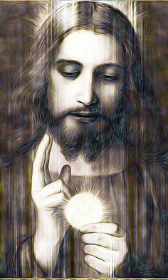 Jesus loves all the little children. Pictures Of Christ, Religious Pictures, Catholic Art, Religious Art, Roman Catholic, Jesus Christ Painting, God Jesus, Jesus Art, Christian Art
