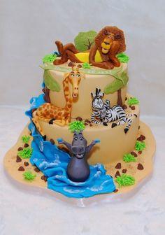 Enjoyable 20 Best Madagascar Cake Images Madagascar Cake Cake Madagascar Funny Birthday Cards Online Alyptdamsfinfo