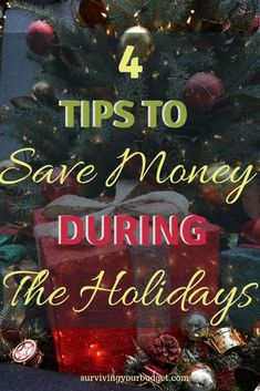 With the holidays quickly approaching people are starting to think about what gifts they will be giving this year.  It is easy to spend too much during the holidays but that doesn't have to happen.  Click through to learn 4 tips to save money during the holidays.  #savemoney #christmas #savemoneyatchristmas