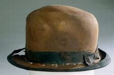 A hat from the RMS Titanic which was recovered from the ocean floor. 1912..........