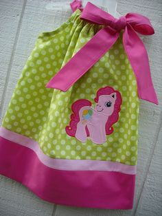 Pinkie Pie My Little Pony Pillowcase Dress by MyDaughtersShop