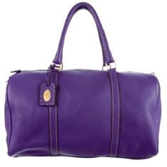 Fendi Purple Travel leather duffle bag with strap Purple leather Purple Fendi Selleria leather Boston bag (keepall style) with gold-tone hardware, tan contrast stitching, beige canvas lining, interior slit pocket, dual rolled top handles and top zip closure. Strap and authentication card included. FENDI Bags Travel Bags