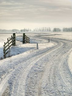 Snow covered road....
