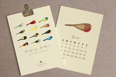 2014 Wall Calendar - Birds of  a Feather Calendar