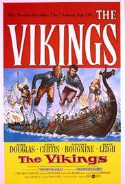 Film Les Vikings 1957. A slave and a Viking prince fight for the love of a captive princess.