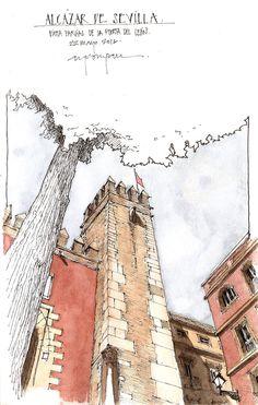 Travel Sketchbook, Art Sketchbook, Landscape Drawings, Architecture Drawings, Fairy Drawings, Urban Sketchers, Watercolor Sketch, Monuments, Drawing Sketches