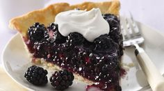 Looking for a delicious dessert using Pillsbury® pie crust? Then try this wonderful blackberry pie that's served with whipped topping - a delightful treat.