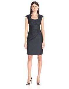 Calvin Klein Women's Ruched Denim Dress