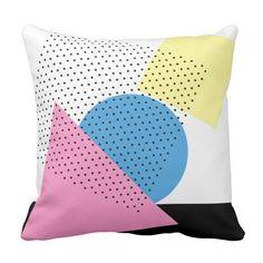 Geometric Memphis Design Pattern Throw Pillow