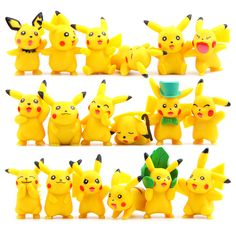 18pcs/lot Kawaii Pikachu Toys 3-6cm Pocket Monster Pikachu Mini PVC Action Figures Toys Doll Collection Model Christmas Toys #Affiliate