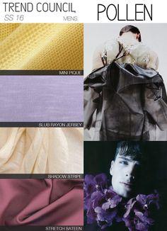 """Trend Council SS16 """"Pollen"""" fabrics"""