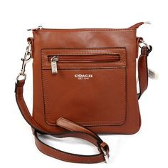 Look Here! Coach Zip In Logo Small Brown Crossbody Bags CFP Outlet Online