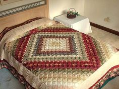 Trip Around the World Quilt -- magnificent specially made Amish Quilts from Lancaster (hs1732)