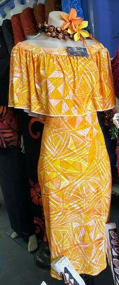 Pin by Gregoreon on Must Have! Samoan Designs, Polynesian Designs, Island Wear, Island Outfit, Tahiti, Samoan Dress, Island Style Clothing, Hawaian Party, Hawaii Dress