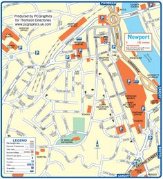 Map of Newport created in 2011 for Thomson Directories. One of approximately 350 UK town and city maps produced royalty free. Find out more...  http://www.pcgraphics.uk.com   or read our blog...    http://www.pcgraphics.uk.com/blog/