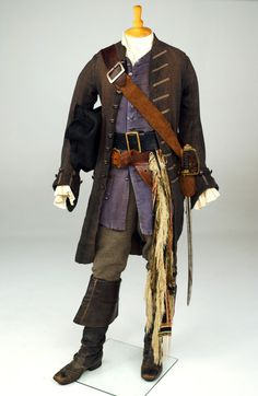 Costume designed by Penny Rose for Johnny Depp in Pirates of the Caribbean: The Curse of the Black Pearl (2003).