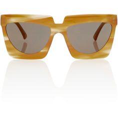 Adele Rectangular Sunglasses   Moda Operandi (1 880 PLN) ❤ liked on Polyvore featuring accessories, eyewear, sunglasses, rectangle glasses, rectangular glasses, oversized eyewear, rectangle sunglasses and over sized sunglasses