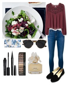 """""""Diner during holidays ☀️"""" by emma-horan-73 on Polyvore featuring Frame Denim, MANGO, Christian Dior, Sonix, Smashbox, Marc Jacobs, Marc by Marc Jacobs, women's clothing, women and female"""