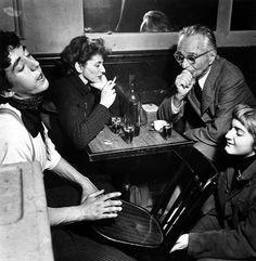 Title: In Cafe Chez Morneau, Ata Kando and Edward Steichen, Paris  Artist: Ed van der Elsken (1925-1990, Dutch)  Year: 1953