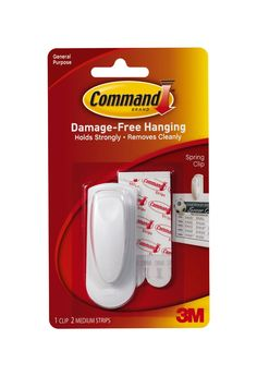 Command Spring Clip with Command Adhesive Strips - 1 Spring Clip: Amazon.co.uk: DIY & Tools
