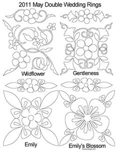 Quilting Stencils For Double Wedding Ring : Stencils - Templates on Pinterest Quilting Stencils, Stencils and Quilting