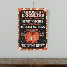 Days Till Halloween, Halloween Countdown, Halloween Signs, Diy Halloween Decorations, Halloween Crafts, Halloween 2020, Small Chalkboard Signs, Black Flame Candle, Scary Witch