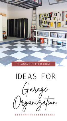 Garage Storage Inspiration, Garage Organization Tips, Garage Storage Solutions, Diy Garage Storage, Attic Storage, Garage Renovation, Garage Interior, Garage Makeover, Garage Attic