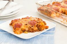Garlic-Knot Pizza Bake