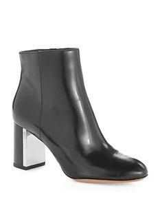 Michael Kors Vivi Leather Boots Black