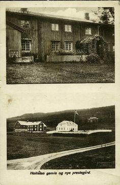 Sør-Trøndelag fylke Holtålen kommune i Gauldalen  Holtålen gamle og nye prestegård, tobilders utg A. Røske