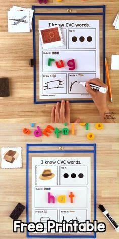 Teaching Phonics, Homeschool Kindergarten, Kindergarten Schedule, Phonics Games Year 1, Center Ideas For Kindergarten, Math Activities For Kindergarten, Kindergarten Literacy Activities, Syllables Kindergarten, Read Write Inc Phonics