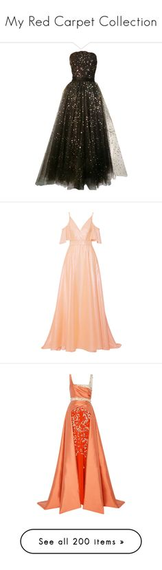 """""""My Red Carpet Collection"""" by asherthecrimsonfox ❤ liked on Polyvore featuring dresses, gowns, long dresses, vintage, 1950s, black, ball gown, vintage sequin gown, vintage evening gowns and vintage evening dresses"""