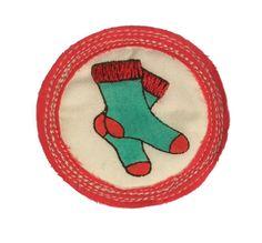 Merit Badge for 'knocking socks off' by leemeszaros on Etsy, $25.00